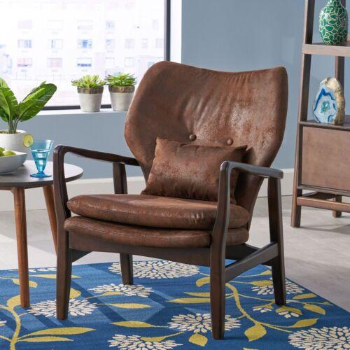 Haddie Mid Century Modern Fabric Club Chair Chairs