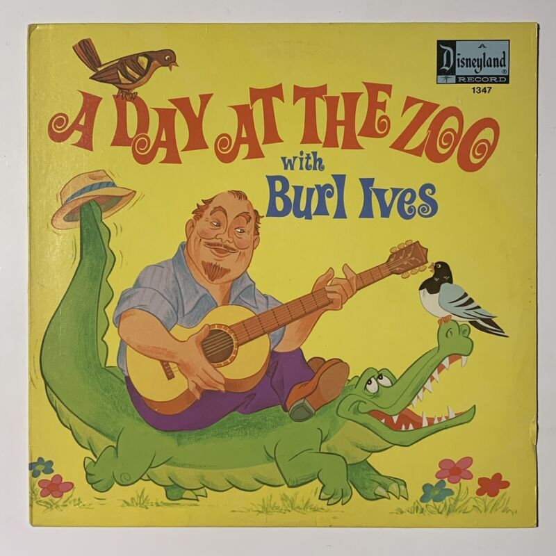Disney A Day At The Zoo With Burl Ives LP (1972) Disneyland Records Vinyl Album