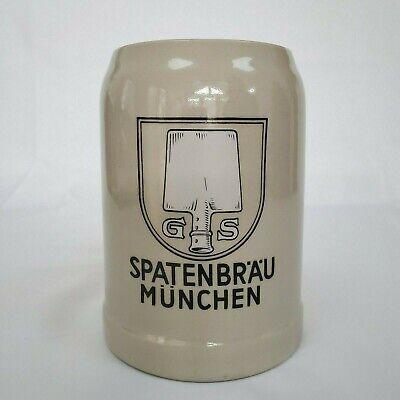Ceramic German Beer Gerz  Mug / Stein Made in W Germany Spatenbrau Munchen 0.5L