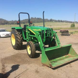 John Deere tractor with front end loader Willow Tree Liverpool Plains Preview