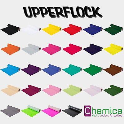 Waschbar Farbe (CHEMICA UPPERFLOCK   50 x 100 cm   Farbauswahl   Waschbar bis 90°C   Flockfolie)