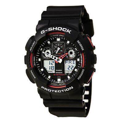 Casio Men's Watch G-Shock Black and Grey Ana-Digital Dial Strap Watch GA100-1A4