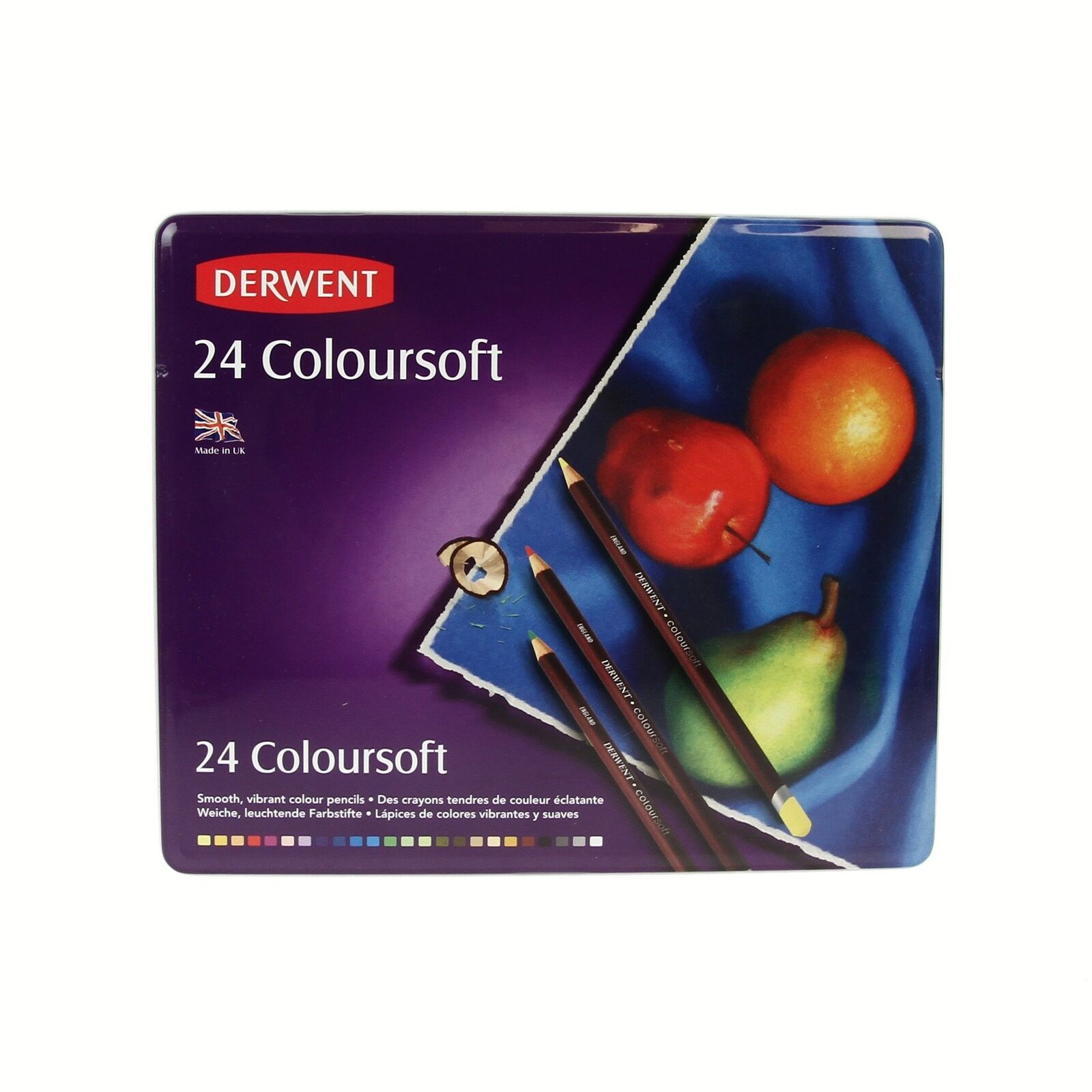 Derwent Coloursoft Lápices 24 Tin