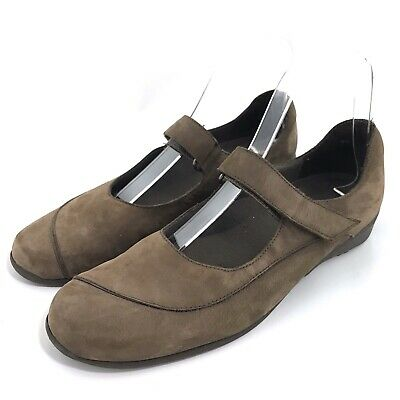 Munro American Journey Mary Janes Brown Nubuck Walking Comfort Shoes Size -