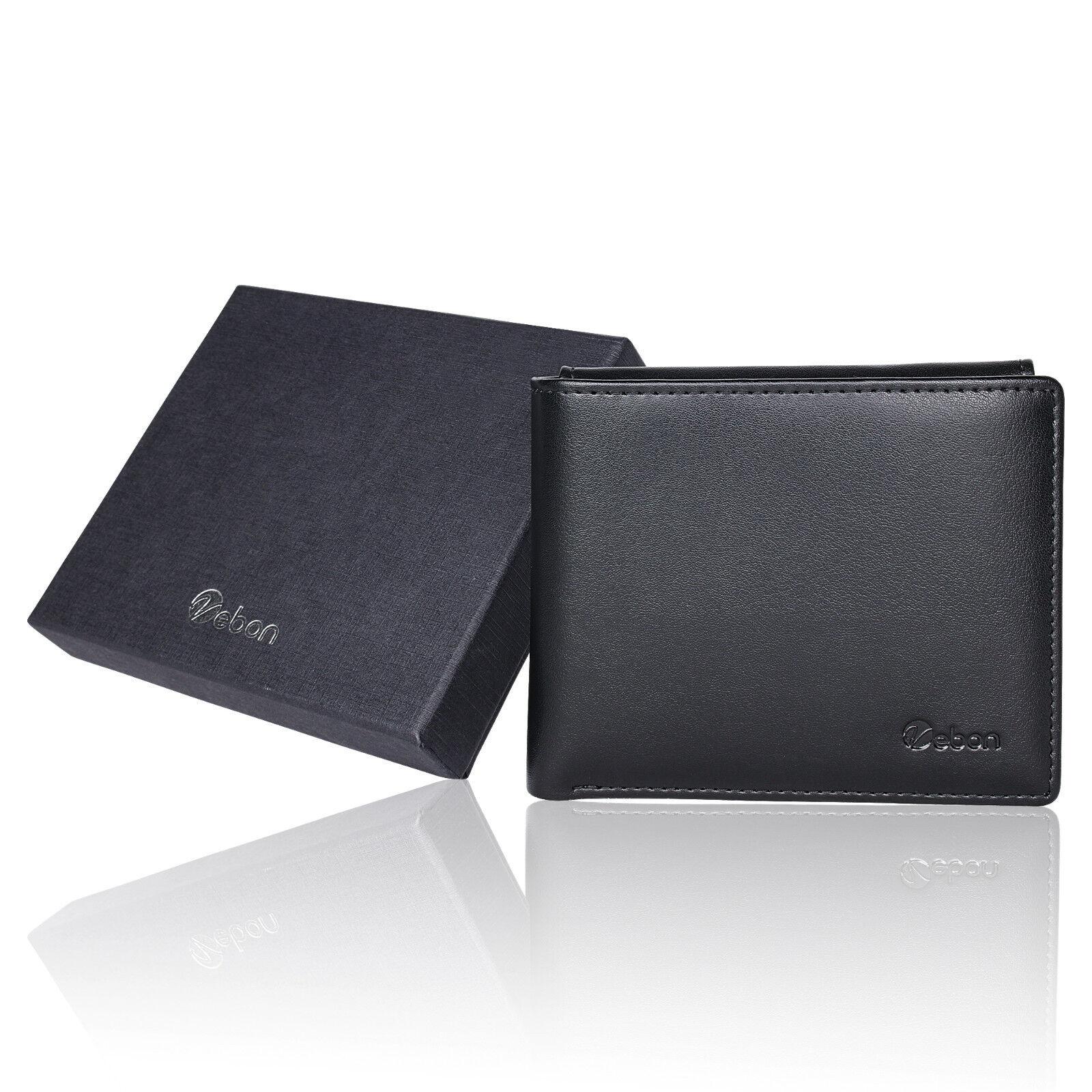 Vebon® Geldbörse aus Echtleder für Herren | RFID-Schutz + Kreditkartenetui