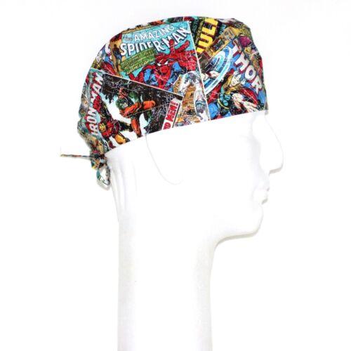 Marvel Comics Avenger Superheroes Patchwork Theme Scrub Hat