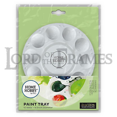 HomeHobby 3L Paint Tray Sturdy Molded Plastic Palette 11Well Acrylic Watercolour
