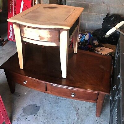 VINTAGE  ANTIQUE PAIR OF TABLES FOR UPSCALING