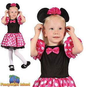 KIDS PINK MINNIE MOUSE GIRL ANIMAL FAIRYTALE Age 2-3 Girls Fancy Dress Costume