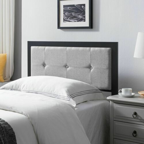 Thera Modern Industrial Tufted Upholstered Twin Headboard Beds & Mattresses