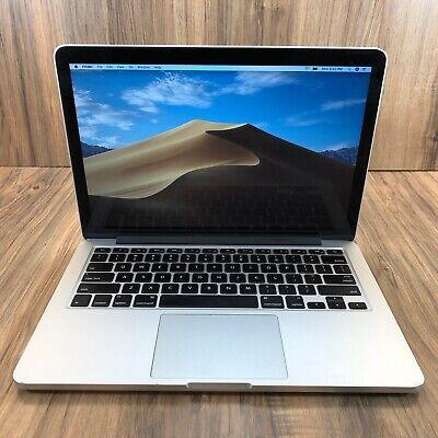 "Apple MacBook Pro 13"" Retina 128GB SSD 8GB RAM 2.6GHz Intel i5 Processor Tested"
