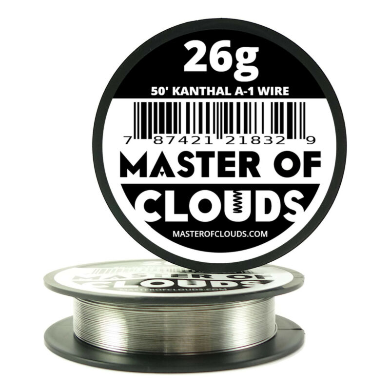 50 ft - 26 Gauge AWG A1 Kanthal Round Wire 0.40mm Resistance A-1 26g GA 50