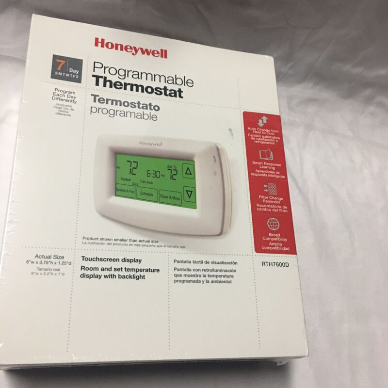 Honeywell Programmable Thermostato 7Day Touchscreen Display New Sealed