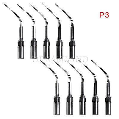 10pcs Dental Ultrasonic Piezon Scaler Perio Tips P3 Fit Emswoodpecker Handpiece