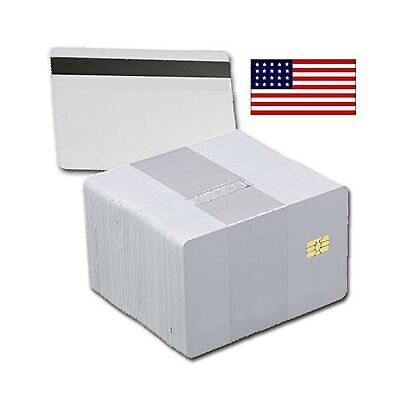 100 Pack - Sle4442 Chip Cards With Hi-co Magnetic Stripe Pvc - Sle 4442