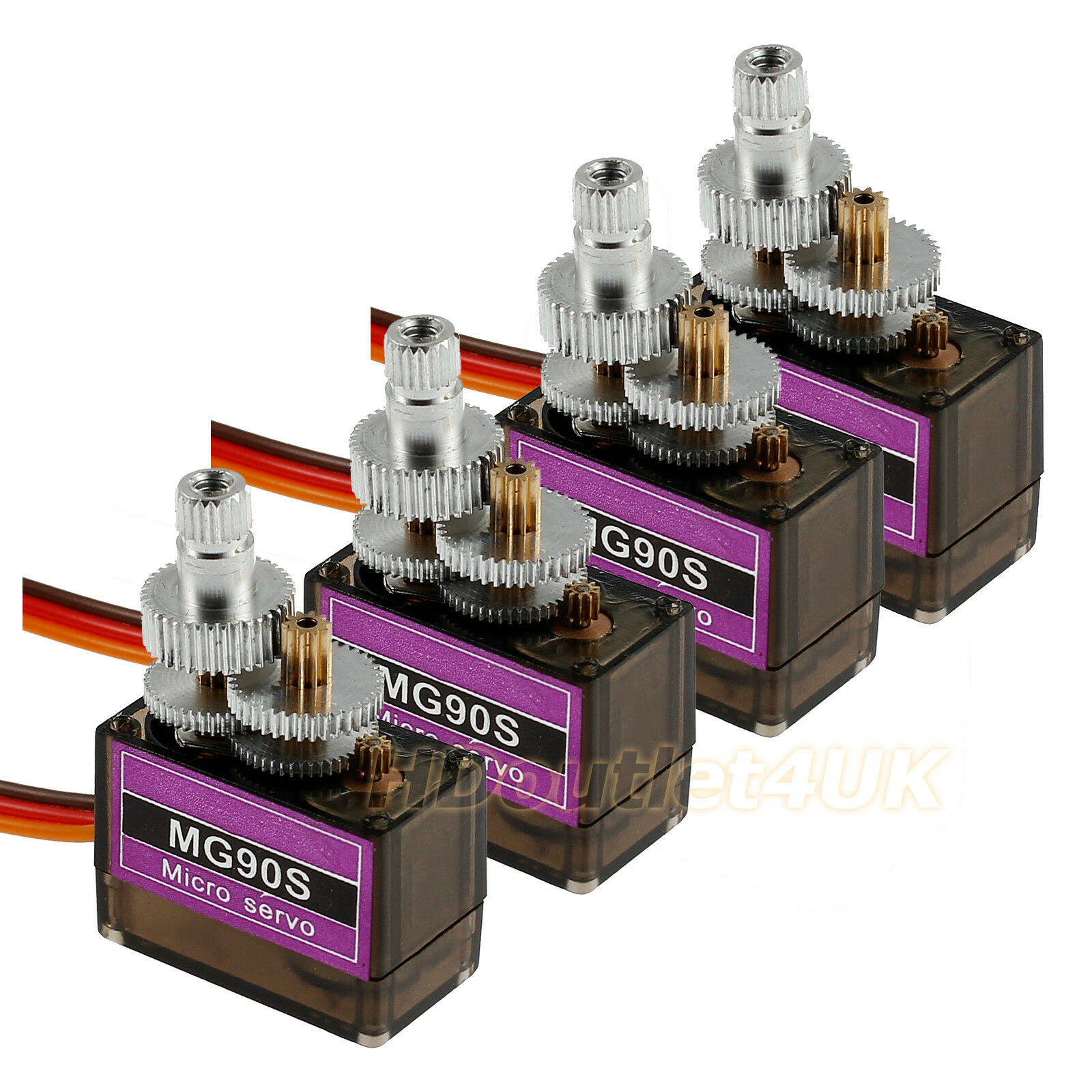 Details about 4X MG90S Metal Gear RC Micro Servo Motor Arduino Metal Gear  Helicopter Airplane