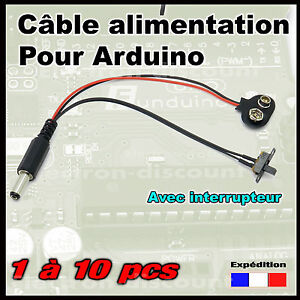ca 2 connecteur pile 9v pour carte arduino avec interrupteur glissi re ebay. Black Bedroom Furniture Sets. Home Design Ideas