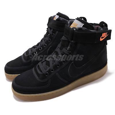 (Nike Vandal High Supreme X Carhartt WIP Black Gum Brown Mens Shoes AV4115-001)