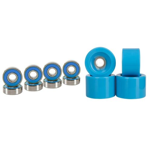 Cal 7 60mm 83A Cruiser Skateboard Blue Wheels (4 Pcs) + ABEC-7 Bearings