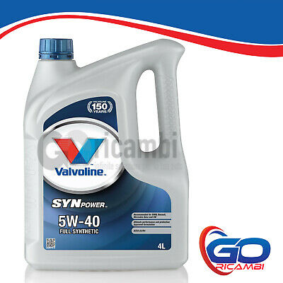 4lt OLIO MOTORE VALVOLINE - SYN POWER 5w40 FULL SYNTH OLIO SINTETICO VE11267