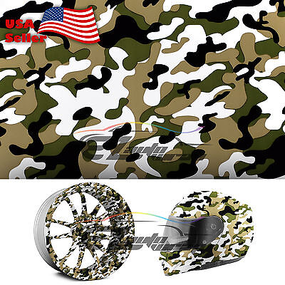 19x38 Hydrographic Film Hydro Dipping Water Transfer Woodland Camouflage 09