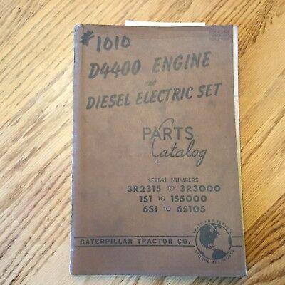 Cat Caterpillar D4400 Parts Manual Book Catalog Engine Diesel Electric Gen-set