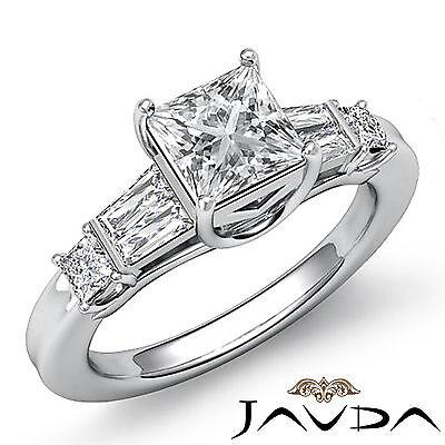 3 Stone Princess Diamond Splendid Engagement Ring GIA I VS2 Platinum 950 1.45 ct