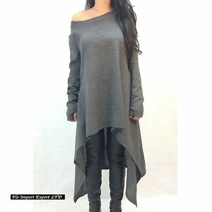 Maglia-Maglione-Lungo-Donna-Asimmetrico-Woman-Autumn-Long-T-shirt-Sweater-561019