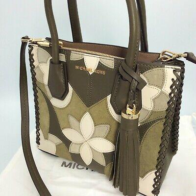 MICHAEL KORS Leder Handtasche TascheHenkeltasche grün Blumen TOP #3682