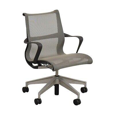 Herman Miller Setu Grey Office Desk Mesh Chair Great Shape Free Ship Blemished