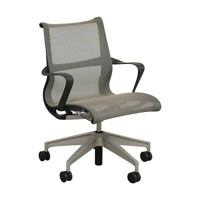 Herman Miller Setu Grey Office Desk Mesh Chair Great Shape Free Shipping