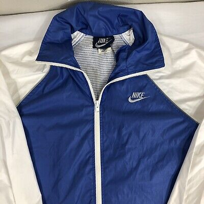 VTG Nike Jacket Windbreaker Blue Tag 80s Japan Men's Small Coat Track Swoosh Air