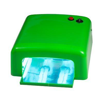 UV Lichthärtungsgerät 36W eckig Grün UV Lampe Nageltrockner für UV Gel Nägel