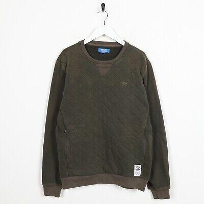 Usado, Vintage adidas Originals Pequeño Logo Jersey Sudadera Verde Medio M segunda mano  Embacar hacia Spain