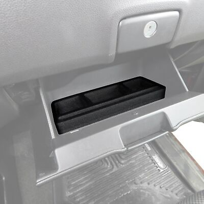 Fits Silverado/Sierra 2015-18 Glove Box Black Organizer Insert Full Console Only