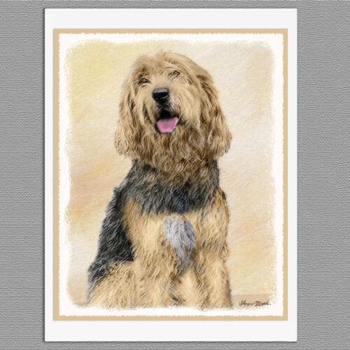 6 Otterhound Dog Blank Art Note Greeting Cards