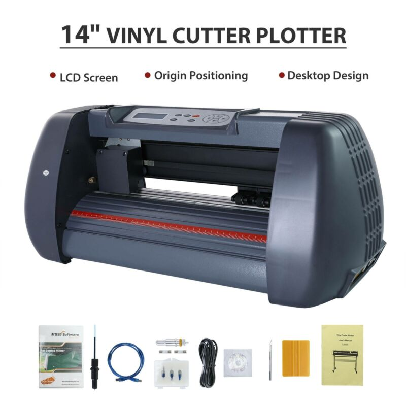 "14""Vinyl Cutter Plotter Paper Cutting Edges Printer LCD scre"