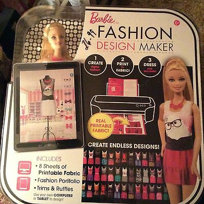 Barbie Fashion Design Maker Doll Print Create Your Own Clothes Printable Kit Set](Doll Printables)