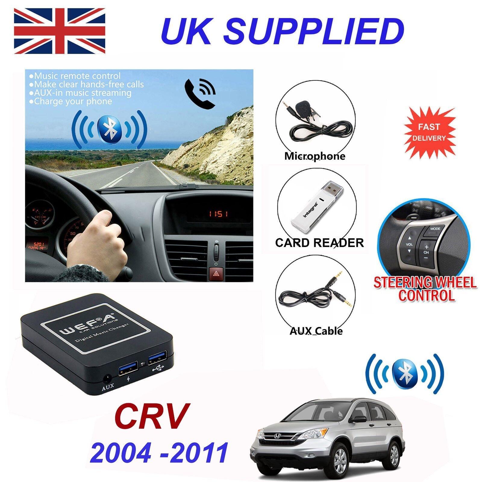 Honda CRV Bluetooth Hands Free Phone AUX Input MP3 2xUSB Charger Module 2.4