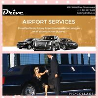 Airport limo SUV taxi service 416-407-7355