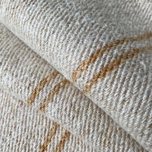 Antique Grain Sack Fabric Bolts 4.5yds Caramel Stripe Grainsack Hemp Linen Bolt