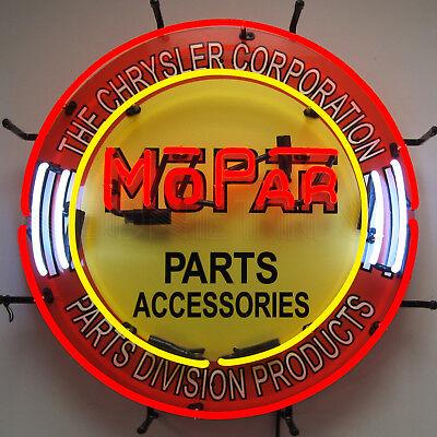 Neon sign Hand blown Glass Mopar Parts and Accessories Chrysler garage lamp