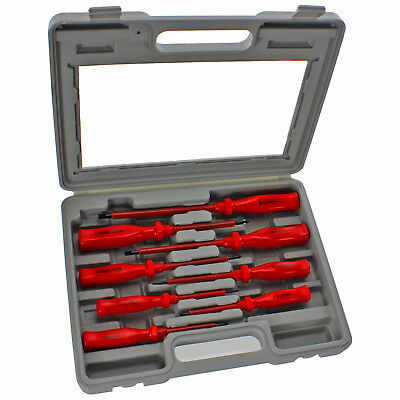 Insulated Screwdriver Set 8 Pk Vde Magnetic Electrician Phillips Slotted Case