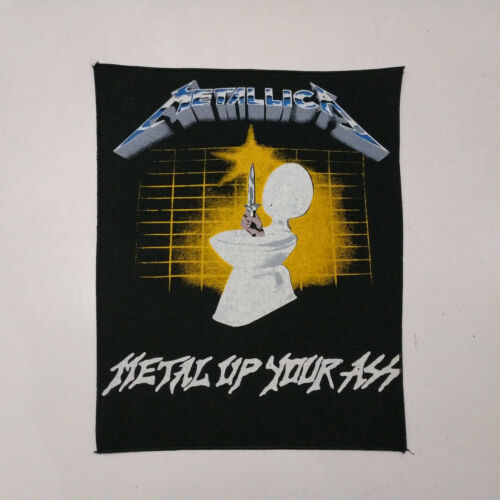 Vintage     METALLICA       Unused  80s BACK PATCH    metal up your ass