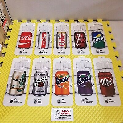 10 Royal Vendors Soda Vending Machine 12oz Can Vend Label Kit Free Ship
