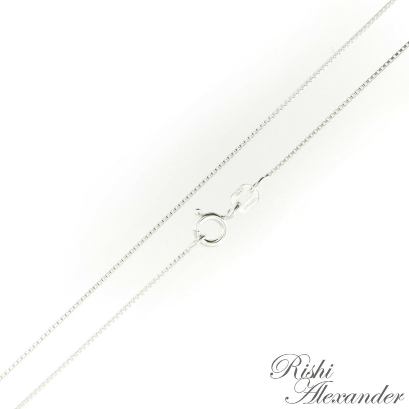 Sterling Silver BOX Chain Necklace Thin .7mm 012 Gauge 925 Italy Italian Jewelry