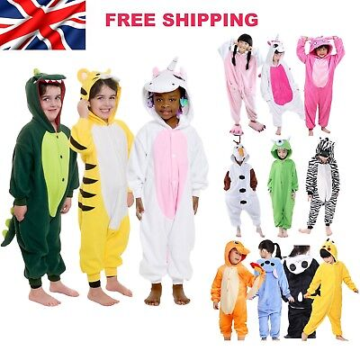 Kids Cosplay Sleepwear Costumes Girls Boys Animal Kigurumi Pajamas  Unisex Party