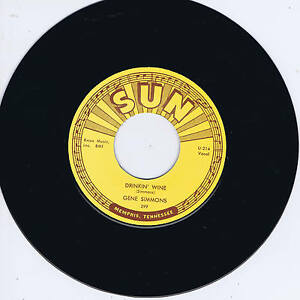 GENE SIMMONS - DRINKIN' WINE / I DONE TOLD YOU (Legendary SUN label ROCKABILLY)