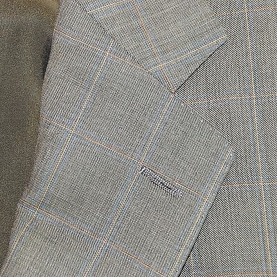 Huntsman Savile Row By Cantarelli Olive Plaid Delfino Wool Suit 2 Vents 40 Italy