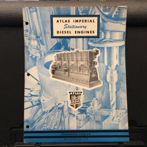 Vtg Atlas Imperial Brochure ~ Stationary Diesel Engines ~ Natural Gas ~ 1948
